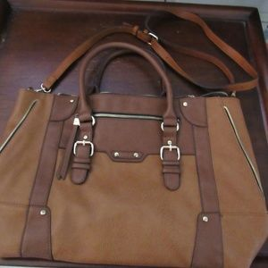 Sole Society Susan Vegan Winged tote bag Brown